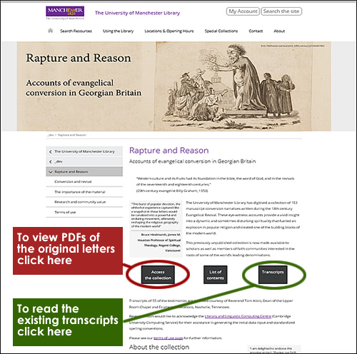 image of rapture and reason webpage